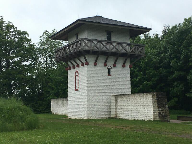 Limesturm bei Osterburken am Limesradweg.